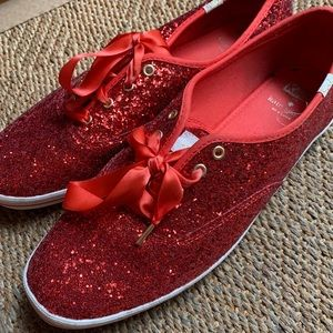 Kate Spade and Keds shoes, ruby slippers